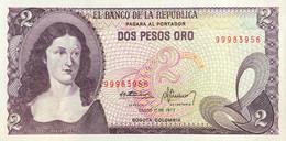 Colombia 2 Pesos Oro, P-413b (1.1.1977) - UNC - Colombia