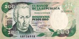 Colombia 200 Pesos Oro, P-429d (1.4.1987) - UNC - Colombia