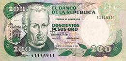 Colombia 200 Pesos Oro, P-429d (1.1.1989) - UNC - Colombia