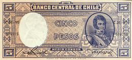 Chile 5 Pesos, P-119 (1958) - UNC - Chile