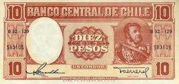 Chile 10 Pesos, P-120 (1958) - UNC - Chile