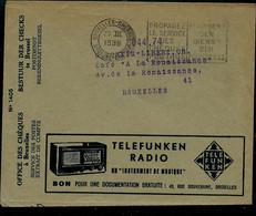 Env. Chèques Postaux: Radio Téléfunken  - Impermite Sac Hermétique Contre Les Mites ( 29/03/1938 ) - Reclame