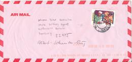 Zambia Cover Sent Air Mail To Germany 3-4-2001 Mahatma Gandhi And Nehru Overprinted Stamp - Zambia (1965-...)
