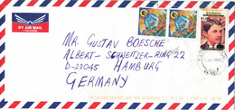 Zambia Cover Sent Air Mail To Germany 31-6-2000 Mahatma Gandhi Overprinted Stamp - Zambia (1965-...)