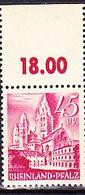 Franz. Zone Rheinland-Pfalz - Mainzer Dom (MiNr: 10 OR) 1947 - Postfrisch MNH - American,British And Russian Zone