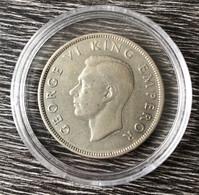 ½ Couronne - George VI 1937 Argent 500‰ - New Zealand