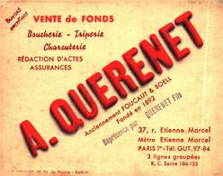 """V F Q13/04/Buvard Vente De Fonds """"A Querenet"""" (Format 13 X 10) (N= 2) - V"""