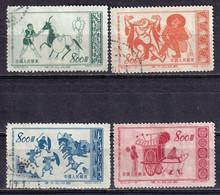 China 1953 Glorious Motherland Horses 3rd Series 4v CTO - Usados