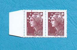 ( 13 ) - MARIANNE De BEAUJARD 2,30 € - ( Grande Griffe Sur Le Visage + Avec Bord ) - Voir Scan - - Abarten: 2010-.. Ungebraucht
