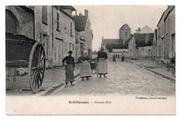 CPA Lib-Ed Portéhaut  ECHILLEUSES Grande-Rue  3 Personnages Semeuse Verte Verso - Unclassified