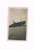 35 PHOTO SAINT MALO 1934 JUILLET BATEAU A IDENTIFIER COULE SUR UN RECIF - Saint Malo