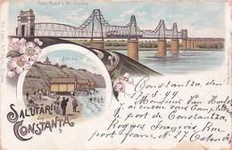 4836  1  Salutari Din Constanta  (with Train) Send 1899 Constanta-Kieldrecht Belgium - Roemenië