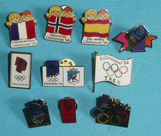 Rare Lot De 10 Pin's Jeux Olympiques D'Hiver Lillehammer 94 1994 JO - Lots
