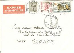 Vieille Enveloppe EXPRESS SPOEDBESTELLING Du SHAPE - BELGIQUE 1975 Pour Ocquier ( Clavier ) - Brieven En Documenten