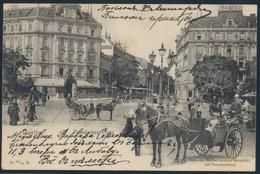 Ansichtskarte Berlin Nach Lausanne Schweiz Potsdamer Platz Pferd Droschke 1903 - Unclassified