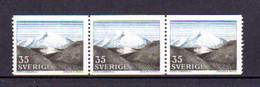 Suède 1967, Fjalls, 95x 558**en Bande De 3, Cote 14,25 €, - Neufs