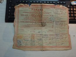 Titre Provisoire Au Porteur Négociable PANAMA. N° 0,088,951 - 1888-1889 - CREDIT-LYONNAIS - Andere