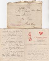 LETTRE AVEC CORRESPONDANCE. 20 8 1924. POSTE AUX ARMEES 192. LUDWIGSHAFEN . OCCUPATION EN ALLEMAGNE CHASSEURS ALPINS - Documents