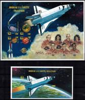 MVV-BK1-293 MVV MINT ¤ GIBRALTAR 1996 IMPERF. KOMPL. SET (RARE) ¤ HOMMAGE A LA NAVETTE CHALLENGER - NASA - Zonder Classificatie
