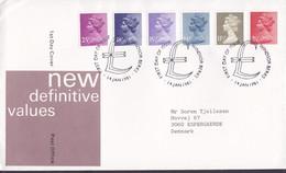 Great Britain Ersttags Brief FDC Cover 1981 New Definitive Values QEII. Complete Set - 1981-1990 Dezimalausgaben