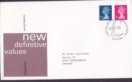 Great Britain Ersttags Brief FDC Cover 1980 New Definitive Values QEII. Complete Set - 1981-1990 Dezimalausgaben