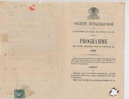 P-610: FRANCE: Lot Avec N°11 Sur Document De La Société Dunkerquoise - 1853-1860 Napoléon III