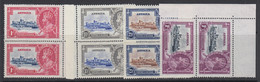 Antigua, Scott 77-80 (SG 91-94), MNH Pairs - 1858-1960 Kolonie Van De Kroon