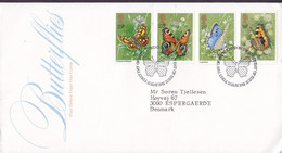 Great Britain Ersttags Brief FDC Cover 1981 Schmetterlig Buttefly Papillon Complete Set - 1981-1990 Dezimalausgaben