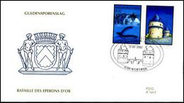 3088/89 - FDC - 700 Jaar Guldensporenslag In Kortrijk #1 P1417 - 2001-10