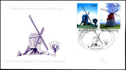 3091/92 - FDC - Windmolens - Gemeensch. Uitgifte Met Portugal #1 - 2001-10