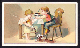 CHROMO RARE Chocolat SUCHARD   +/- 1898  Serie 60      Scenes De Genre   Trade Card - Suchard