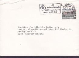 Denmark A/S DET ØSTASIATISKE KOMPAGNI, Slogan KØBENHAVN Omk. 1977 CHARLOTTENLUND Rebild Corner Margin  'L 204' - Covers & Documents
