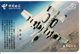 Armée Army Avion Jet  Télécarte Telefonkarte Phonecard Chine (D.589) - Army