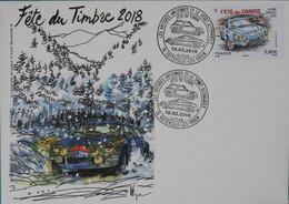76 Sotteville Lès Rouen - Fête Du Timbre 2018 Alpine Renault Sur Enveloppe - Bolli Commemorativi