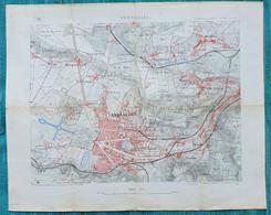 Ancienne Carte Versailles - échelle 1/20 000 - Fin 19ème Ou Début 20ème - Roadmaps