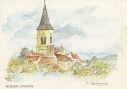 Sombernon...aquarelle De M.f.carbonnelle - Autres Communes