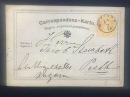 AUSTRIA 1873 Pre-paid Postcard Buchach Ukraine To Pest Hungary - Sin Clasificación