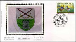 2493 - FDC Zijde - Geschiedenis  #9 - 1991-00