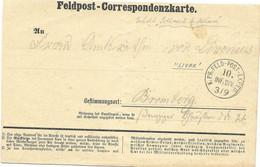 1870-71 Feldpost Card From A German Soldier In Livak - Wars