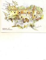 Chateau De Chateauneuf     Aquarelle De M.f.carbonnelle - Autres Communes