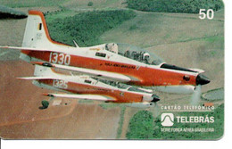 Armée Army Avion Jet T-27 TUCANO  Télécarte Telefonkarte Phonecard Brésil (D.594) - Army