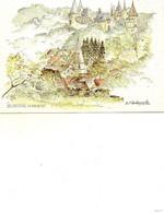 La Rochepot     Aquarelle De M.f.carbonnelle - Autres Communes