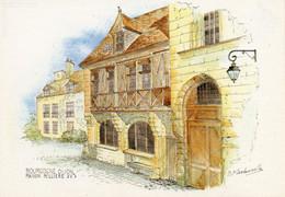 Dijon    Maison Milliere   Aquarelle De M.f.carbonnelle - Dijon