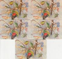 Malaysia, 9MSAA, 10MSAB,12MSAA, 14MSAF And 16MSAB, Lorikeet, Bird, 2 Scans. - Malaysia