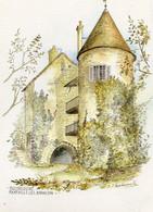 Martilly Les Brancion    Aquarelle De M.f.carbonnelle - Autres Communes