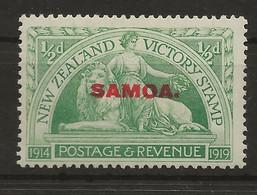 Samoa, 1920, SG 143, Mint Hinged - Stamp Boxes