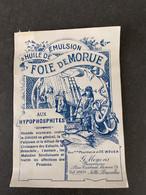 Etiquette Emulsion D Huile De  Foie De Morue  G Moyens Jette St Pierre - Zonder Classificatie