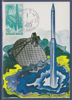 Carte Postale Premier Jour 973 Kourou 28 Mars 70 N°1635 Guyane Terre De L'Espace, - 1970-79