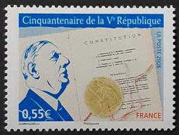FRANCE / YT 4282 A - 2 Bandes De Phosphore à Gauche / CHARLES DE GAULLE - CONSTITUTION / NEUF ** / MNH - Varieties: 2000-09 Mint/hinged