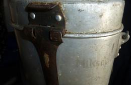 Seconde Guerre Mondiale, Campagne De France : Gamelle Allemande Gravée Par Le Soldat - Equipment
